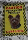 BORDER TERRIER SIGN CAUTION BORDER TERRIER LIVES HERE -  DOG SIGN